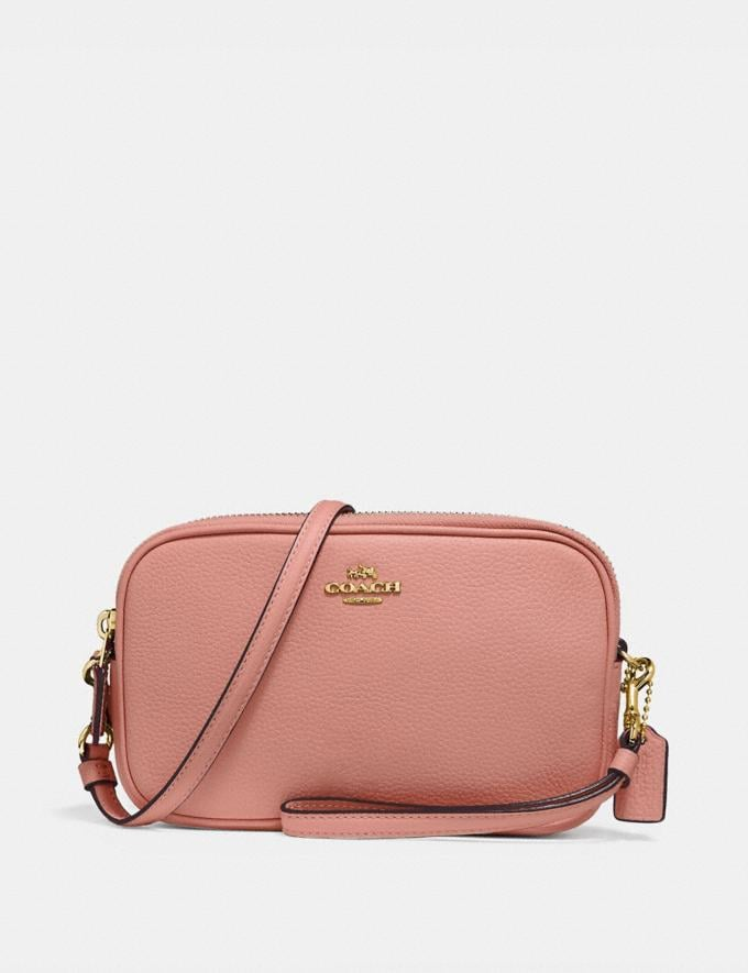 Coach Sadie Crossbody Clutch Light Peach/Gold CYBER MONDAY SALE Women's Sale Wallets & Wristlets