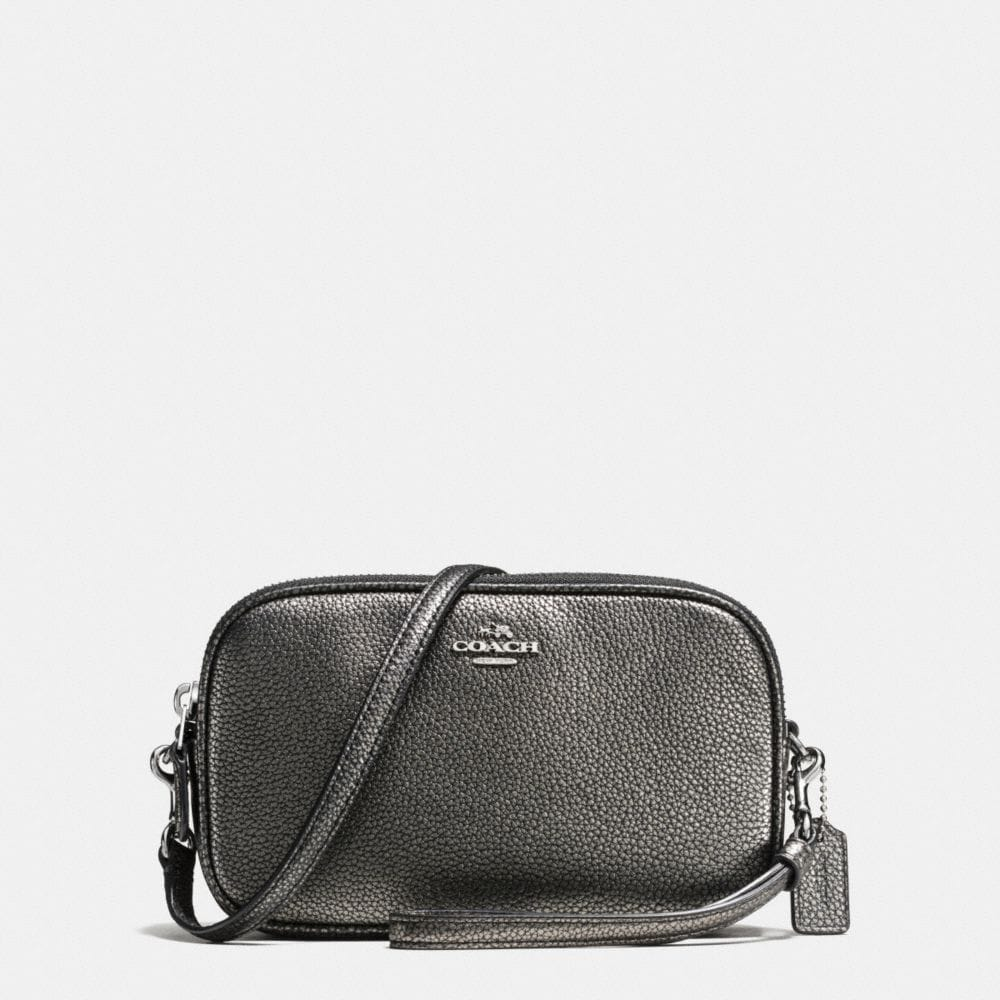 CROSSBODY CLUTCH IN PEBBLE LEATHER