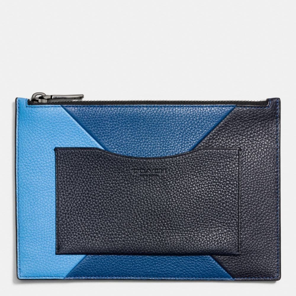 TECH ENVELOPE IN PATCHWORK PEBBLE LEATHER