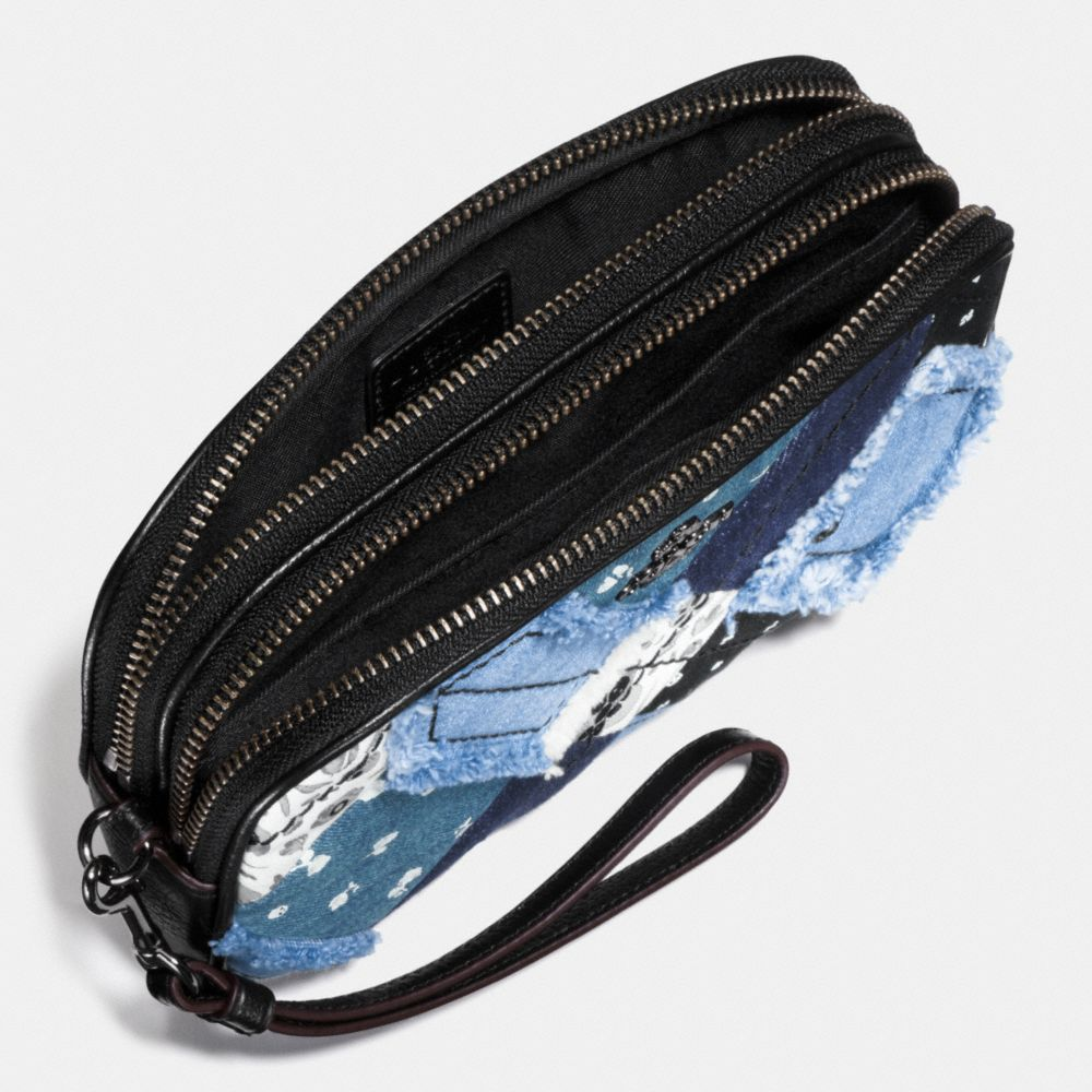 Crossbody Clutch in Canyon Quilt Denim - Alternate View A1
