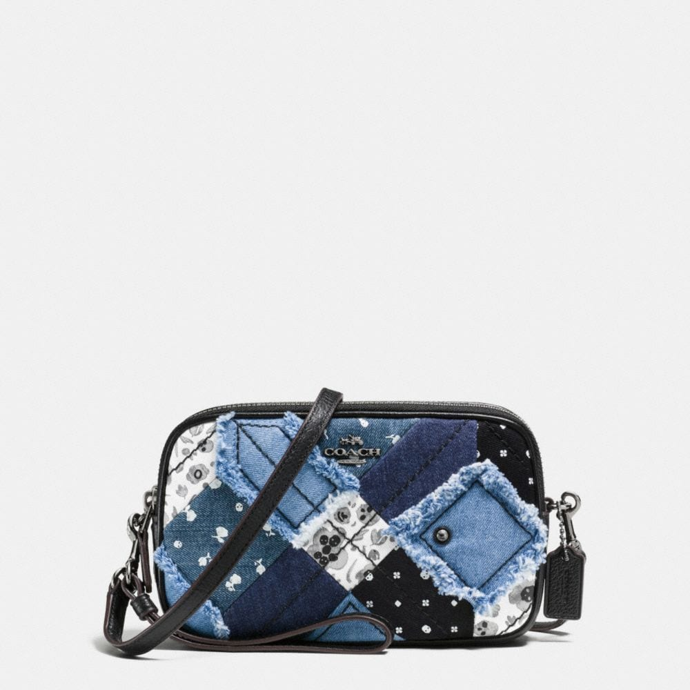 CROSSBODY CLUTCH IN CANYON QUILT DENIM