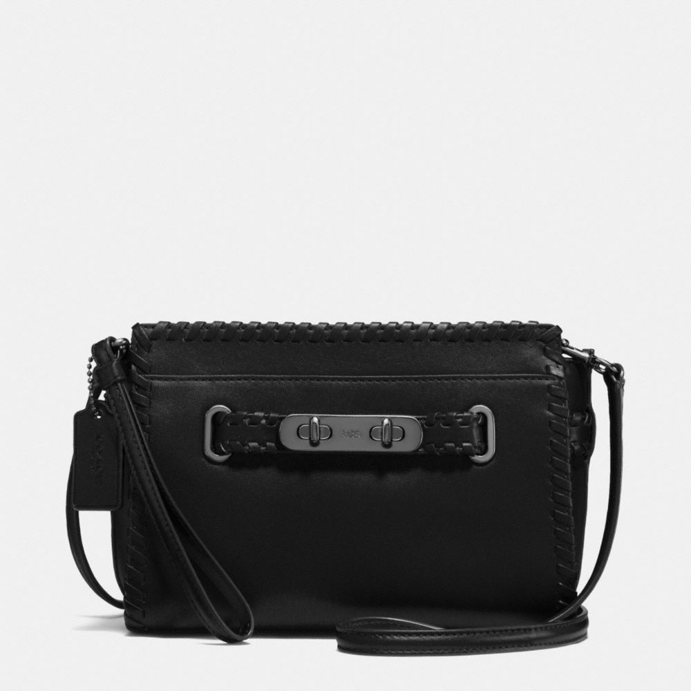 Coach Rip and Repair Coach Swagger Wristlet in Glovetanned Leather