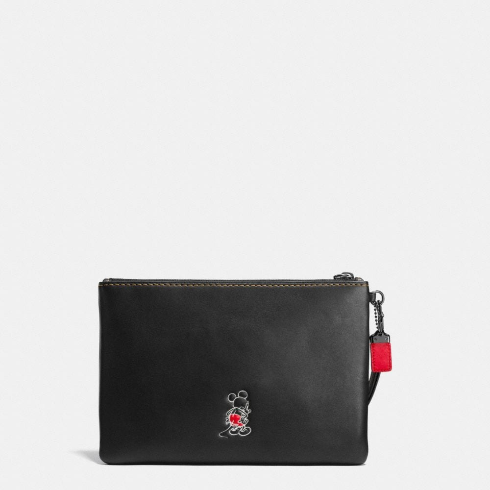 Mickey Turnlock Wristlet in Glovetanned Leather - Autres affichages A2