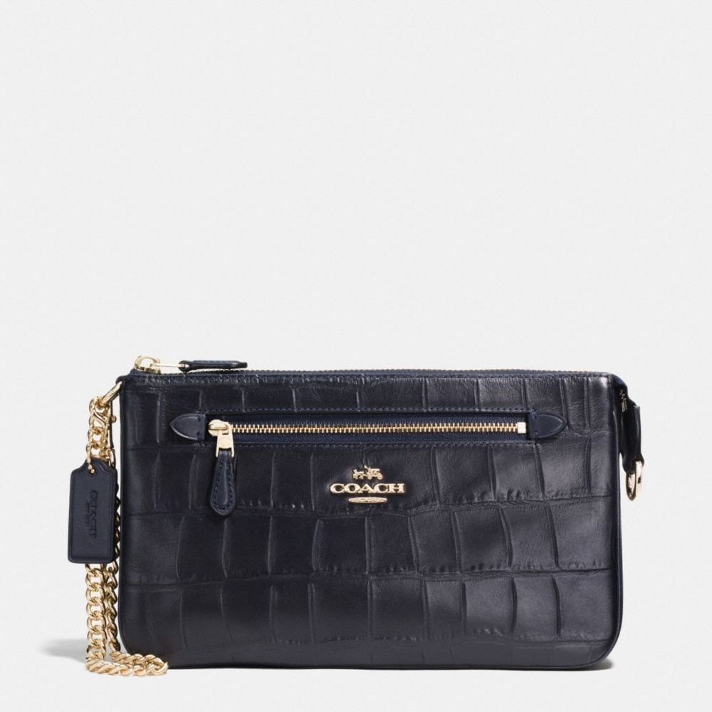 NOLITA WRISTLET 24 IN CROC EMBOSSED LEATHER