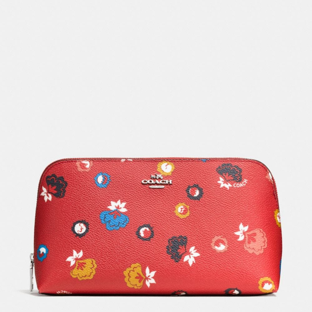 COSMETIC CASE 22 IN WILD PRAIRIE PRINT COATED CANVAS