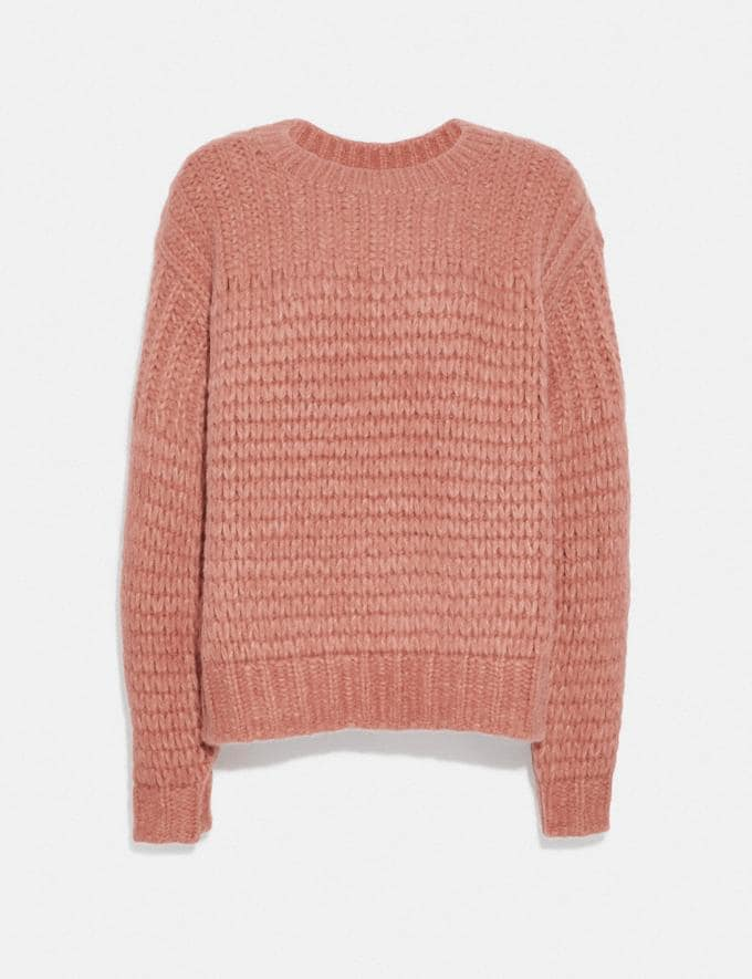 Coach Alpaca Crewneck Pink Women Ready-to-Wear Knitwear & Shirts