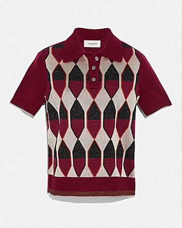 POLO IN JACQUARD A ROMBI