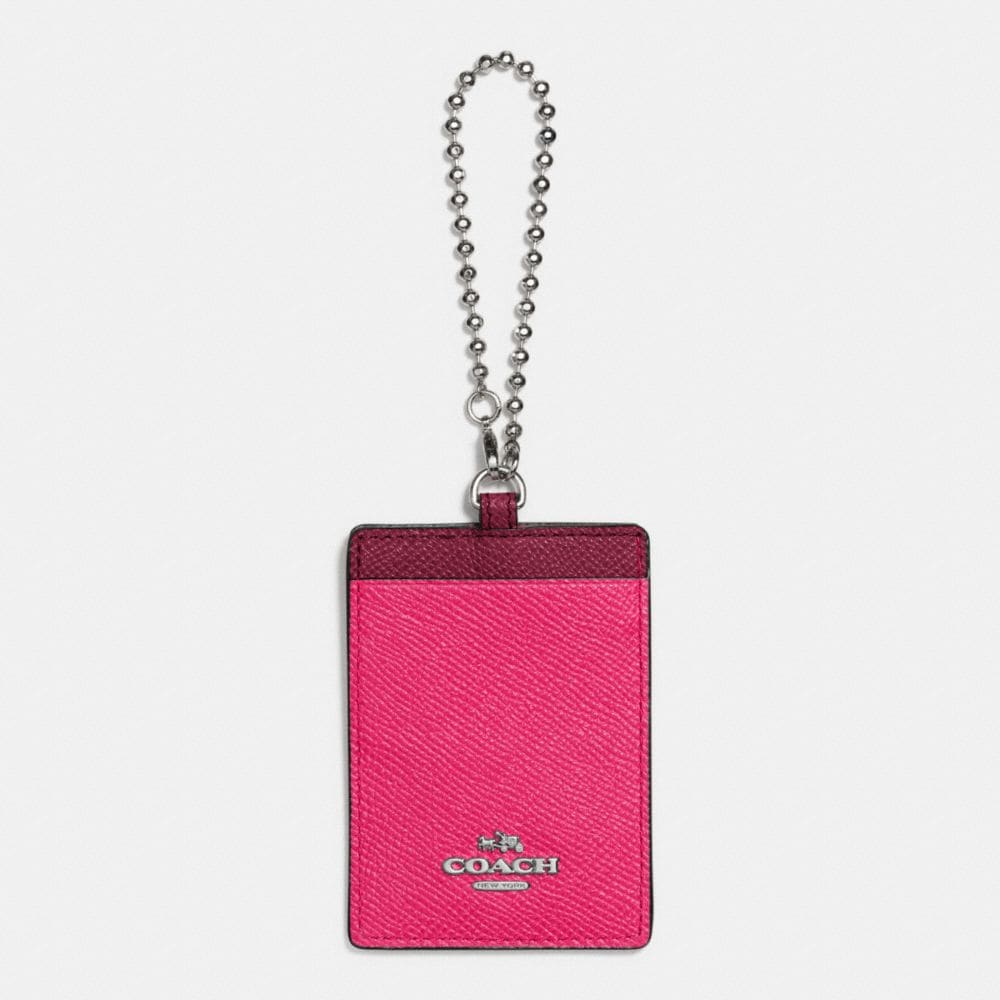 ID HOLDER IN COLORBLOCK LEATHER
