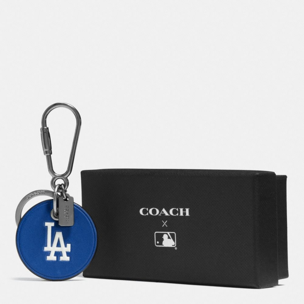 Coach Mlb Round Logo Key Ring Alternate View 1