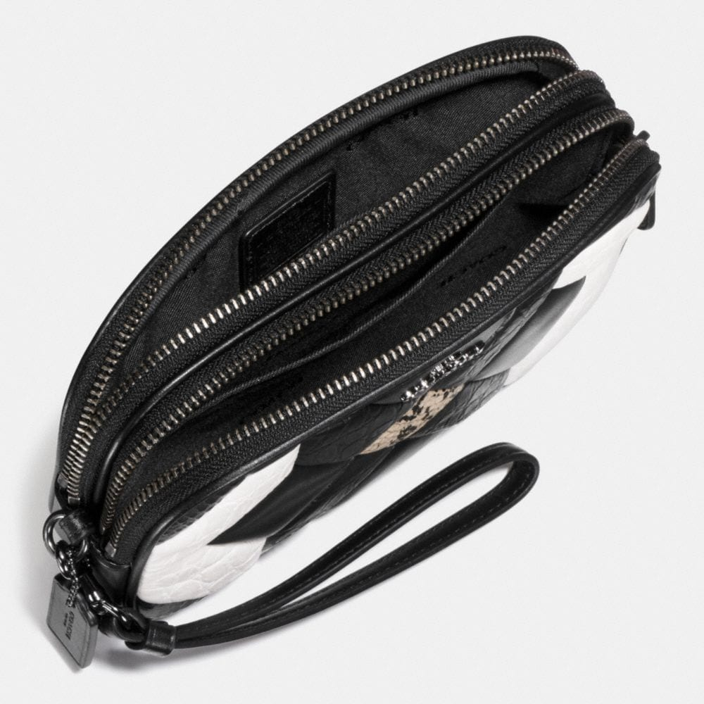 Canyon Quilt Crossbody Clutch in Exotic Embossed Leather - Alternate View A1