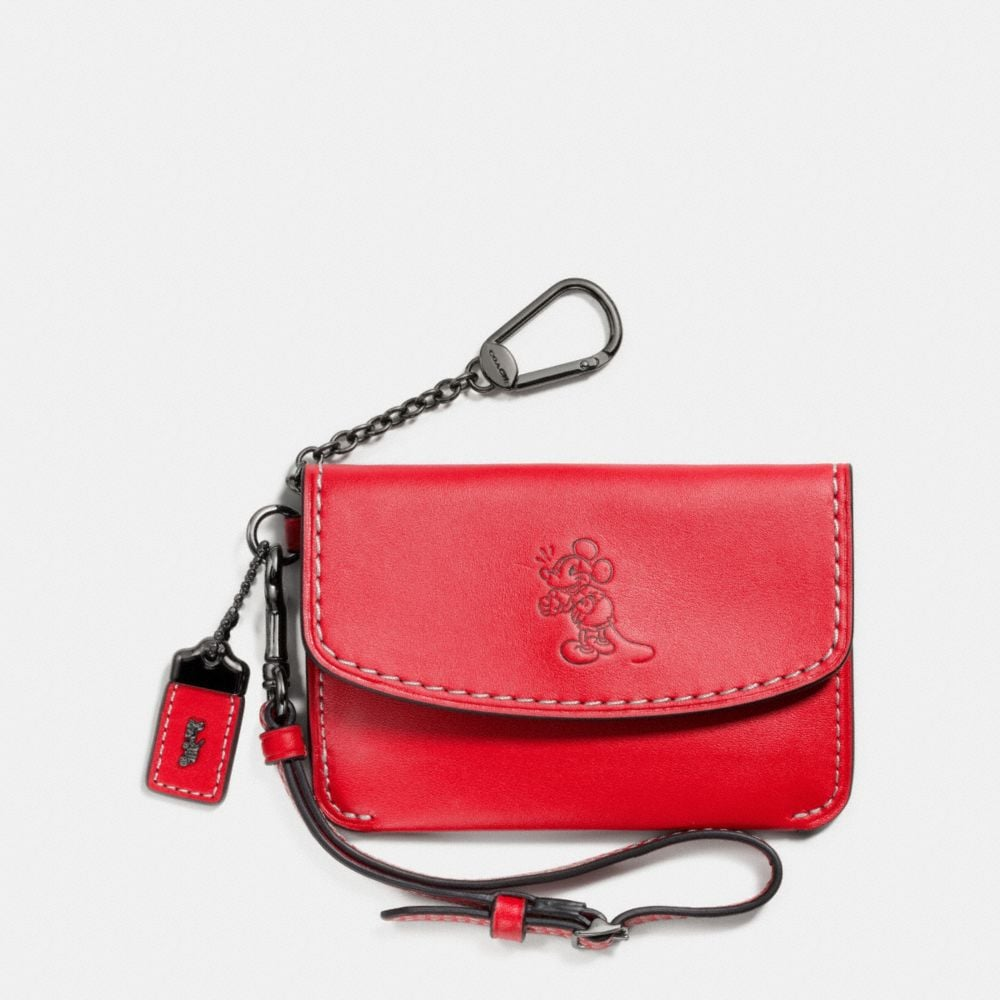 Coach Mickey Envelope Key Pouch in Glovetanned Leather
