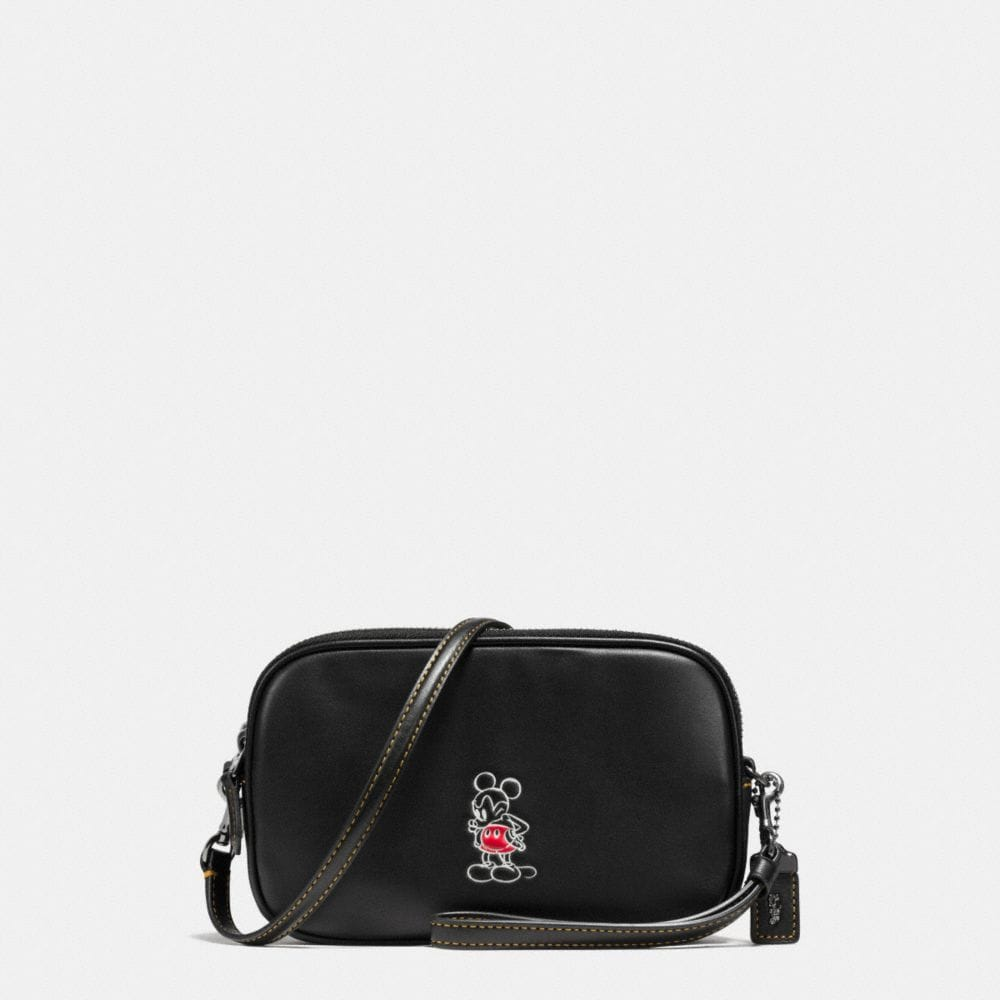 Mickey Crossbody Clutch in Glovetanned Leather