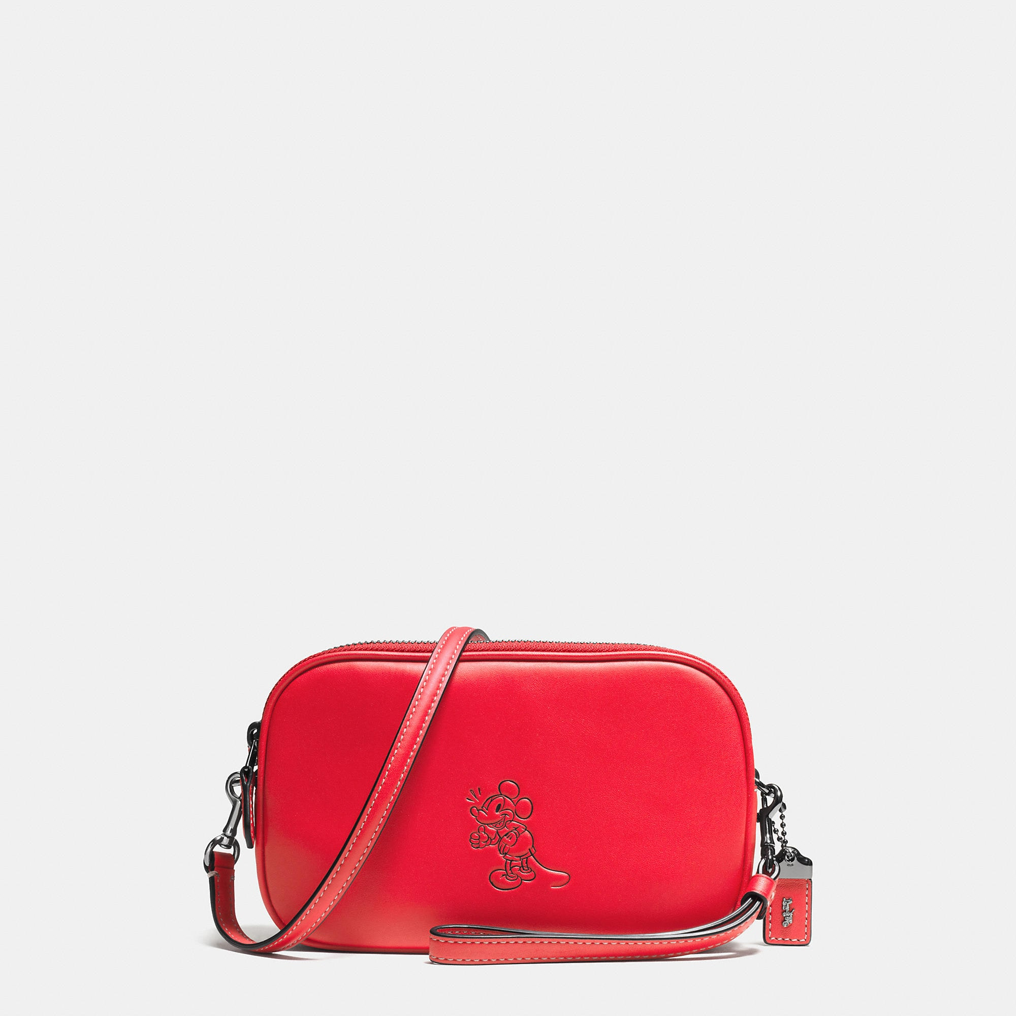 Coach Mickey Crossbody Clutch In Glovetanned Leather - Disney