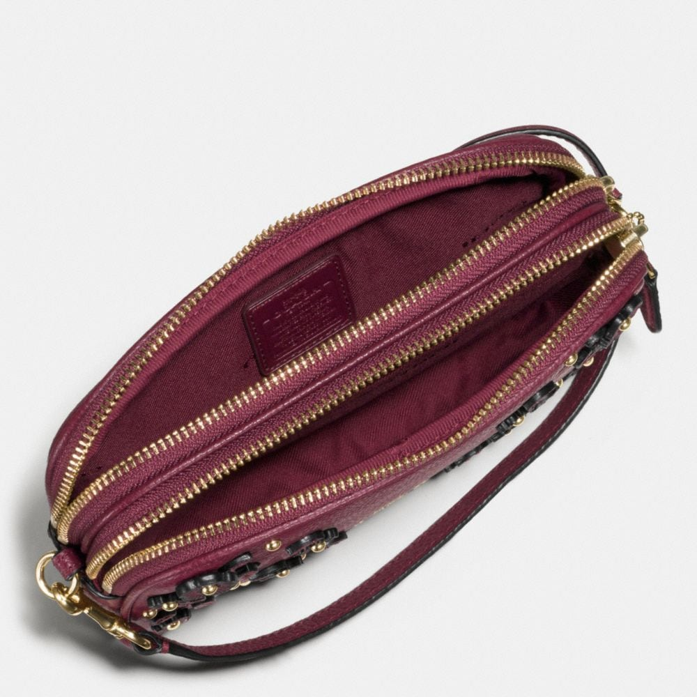 Coach Willow Floral Crossbody Clutch in Pebble Leather Alternate View 1