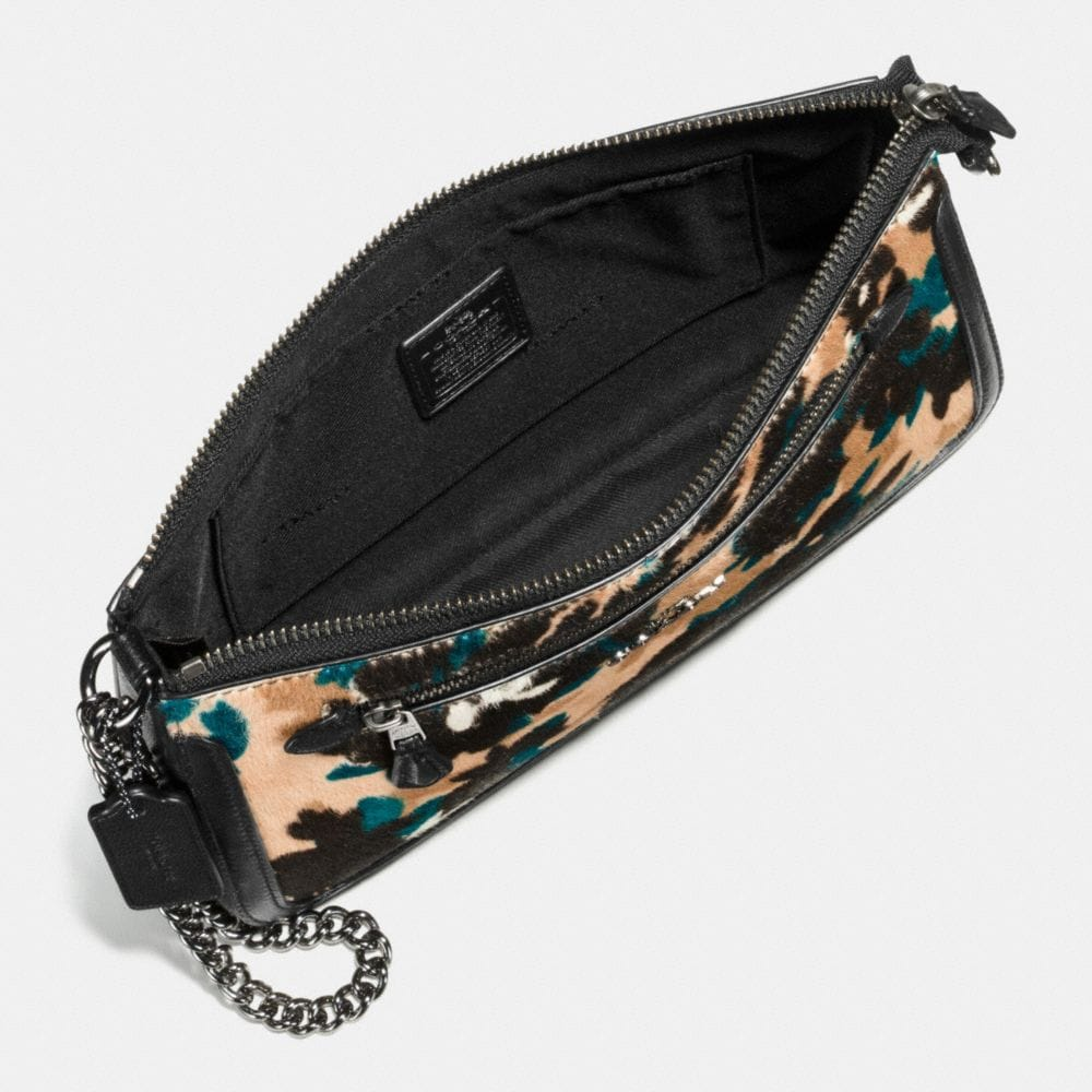 Coach Nolita Wristlet in Scattered Leaf Printed Haircalf  Alternate View 1