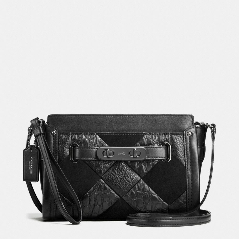Coach Swagger Wristlet in Canyon Quilt Exotic Embossed Leather