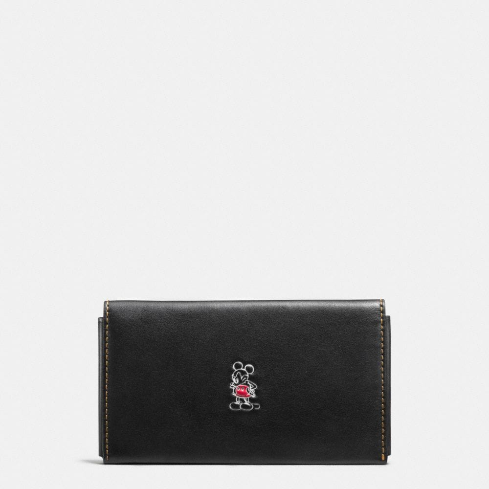 Mickey Phone Wallet in Glovetanned Leather
