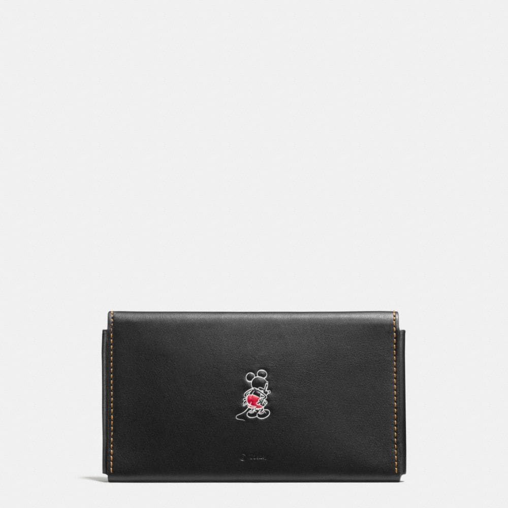 MICKEY PHONE WALLET IN GLOVETANNED LEATHER - Alternate View A1