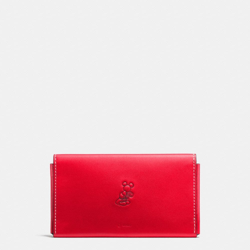 Coach Mickey Phone Wallet in Glovetanned Leather Alternate View 1