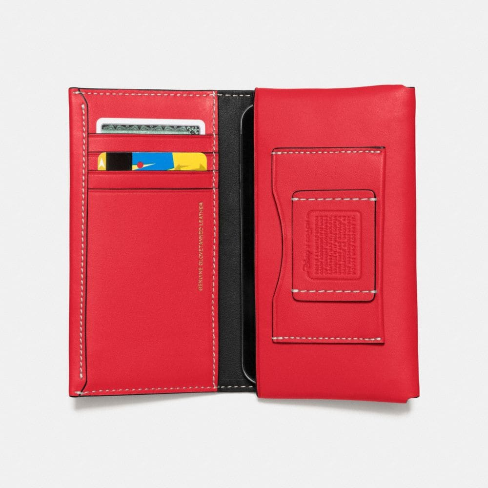 Coach Mickey Phone Wallet in Glovetanned Leather Alternate View 2