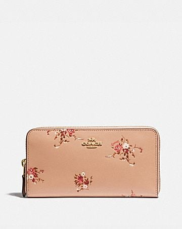 35a5b97987 ACCORDION ZIP WALLET WITH FLORAL BUNDLE PRINT ...