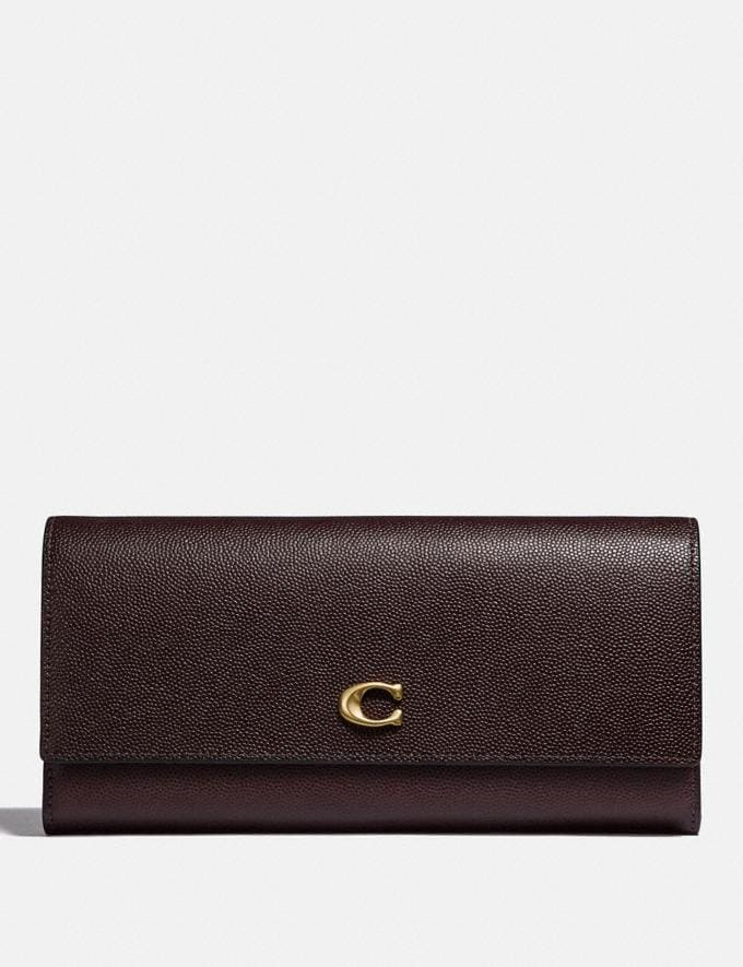 Coach Envelope Wallet Oxblood/Brass New Featured Online Exclusives
