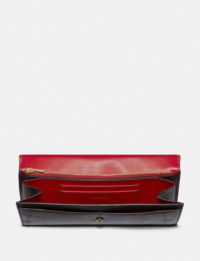 Coach Envelope Wallet Oxblood/Brass New Featured Online Exclusives Alternate View 1