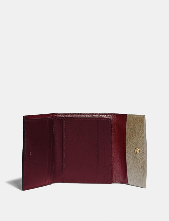 Coach Small Flap Wallet B4/Beechwood Women Small Leather Goods Small Wallets Alternate View 1