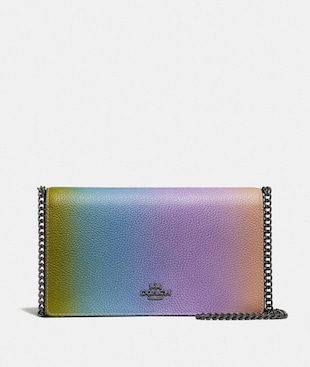 CALLIE FOLDOVER CHAIN CLUTCH WITH OMBRE