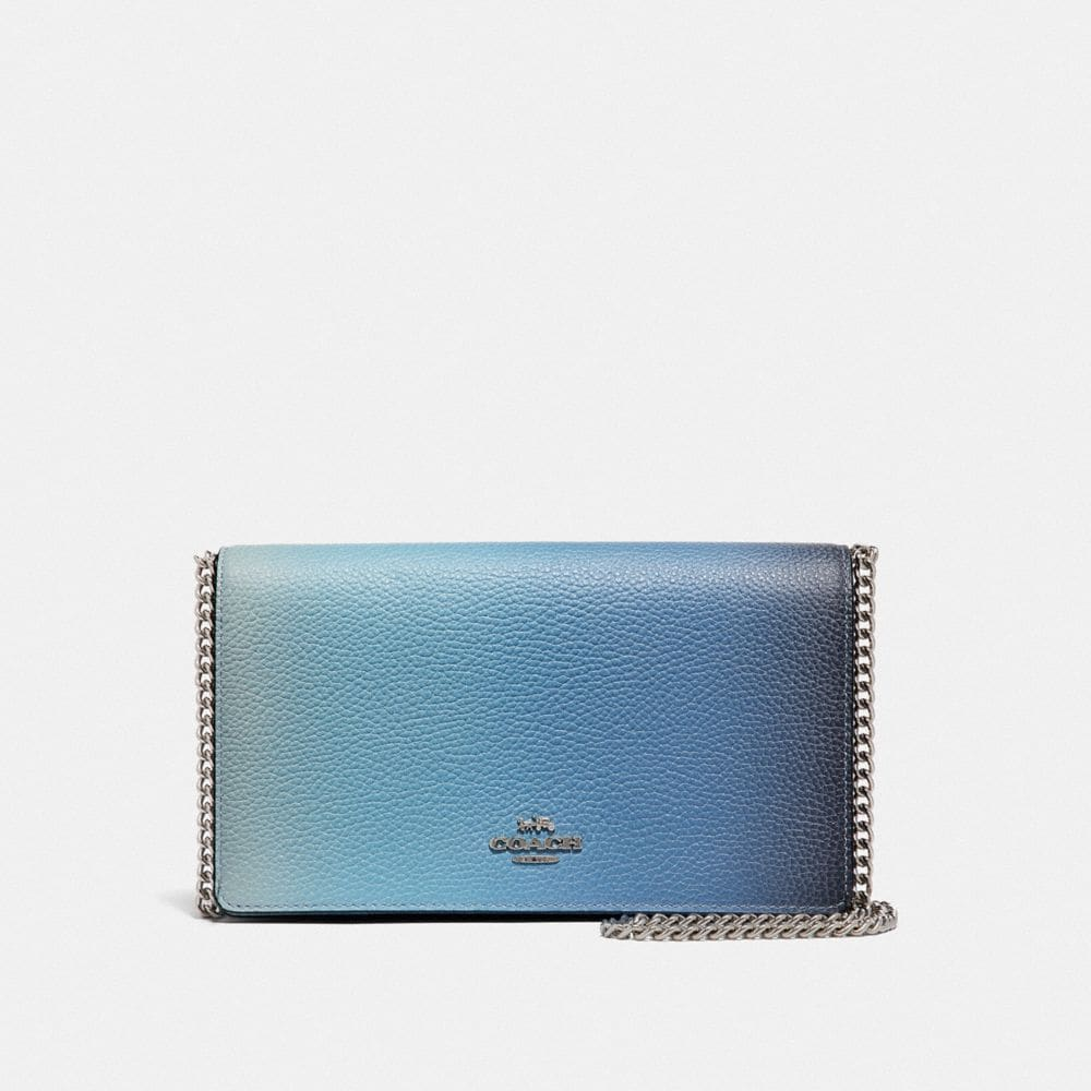 Coach CALLIE FOLDOVER CHAIN CLUTCH WITH OMBRE