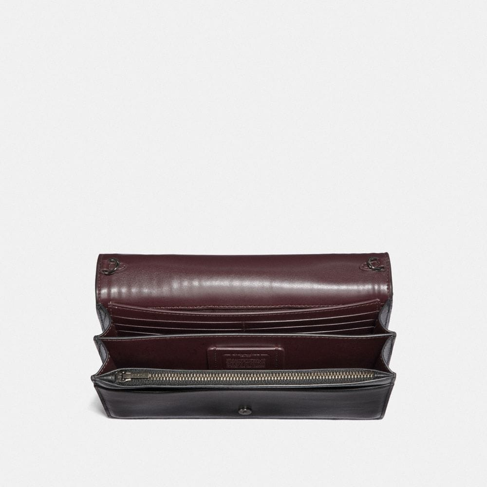 Coach Callie Foldover Chain Clutch With Ombre Quilting Alternate View 2