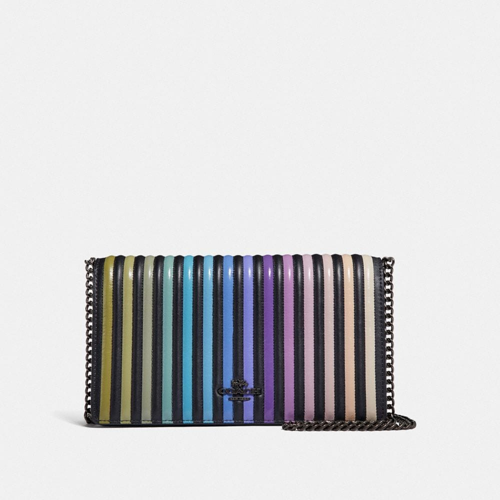 Coach Callie Foldover Chain Clutch With Ombre Quilting