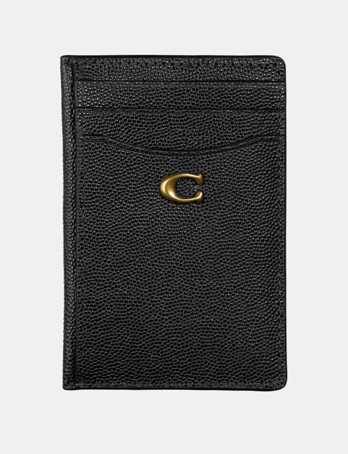 Coach Card Holder Black/Brass Women Edits Your Life, Your Coach