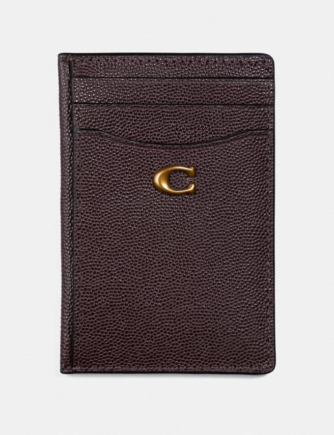 Coach Card Holder Oxblood/Brass Gifts For Her Valentine's Gifts