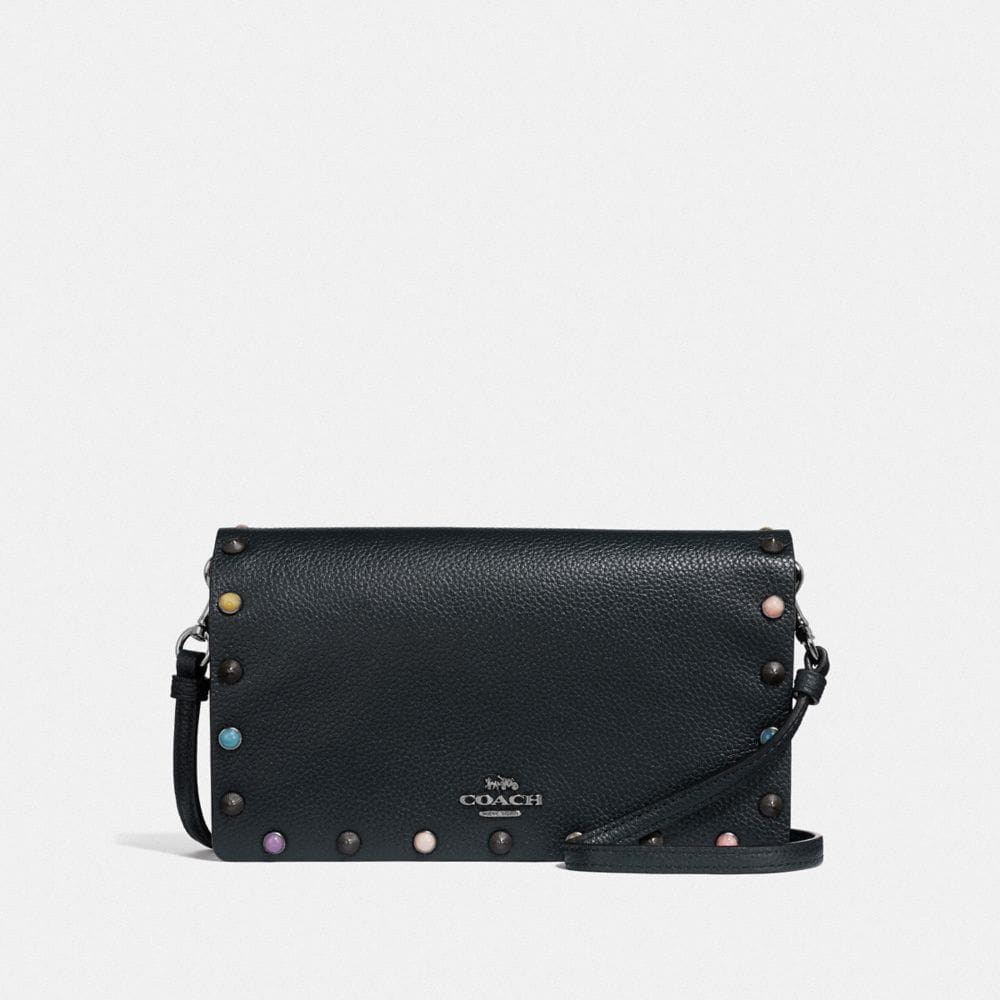 Coach Hayden Foldover Crossbody Clutch With Rivets