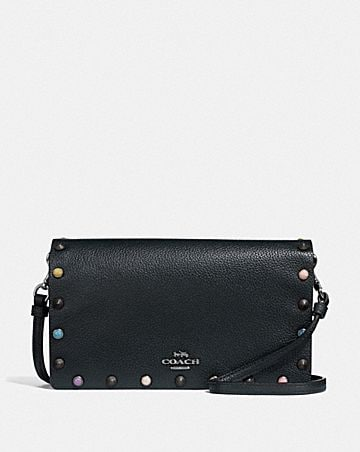 HAYDEN FOLDOVER CROSSBODY CLUTCH WITH RIVETS ... 210fac91ce402