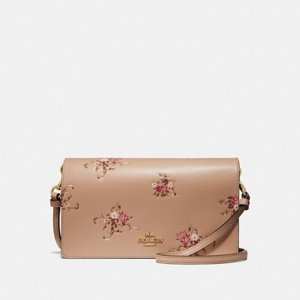 hayden foldover crossbody clutch with floral bundle print