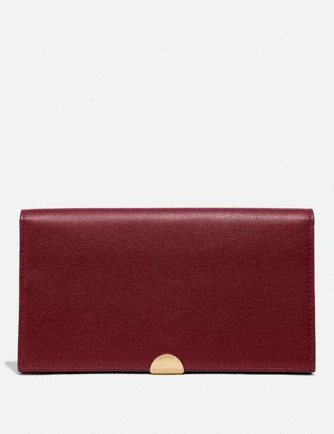 Coach Dreamer Wallet Brass/Deep Red SALE Women's Sale Wallets & Wristlets