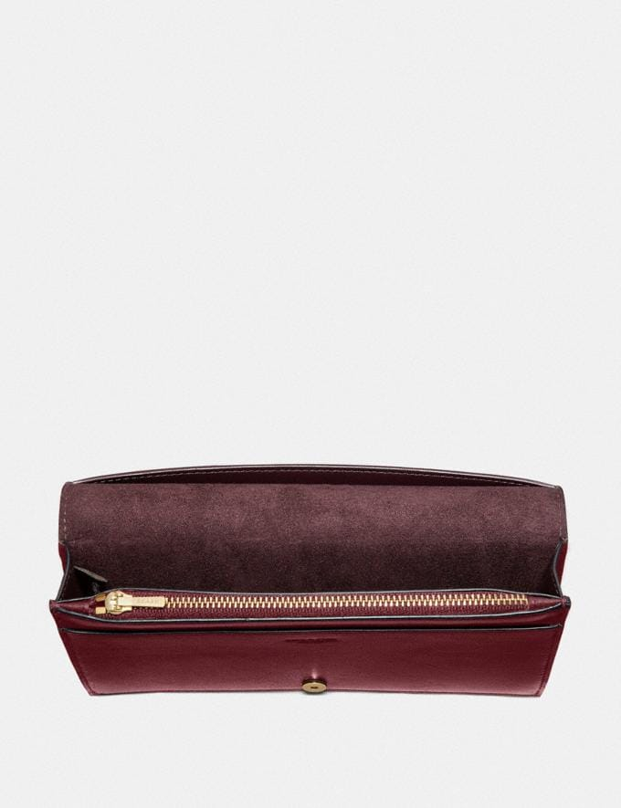 Coach Dreamer Wallet Brass/Deep Red SALE Women's Sale Wallets & Wristlets Alternate View 1