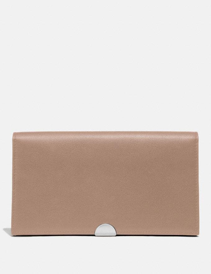 Coach Dreamer Wallet Light Nickel/Taupe New Women's New Arrivals Wallets & Wristlets