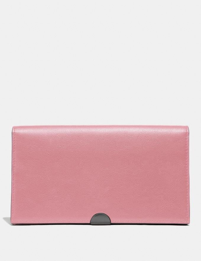 Coach Dreamer Wallet True Pink/Pewter Women Small Leather Goods Large Wallets