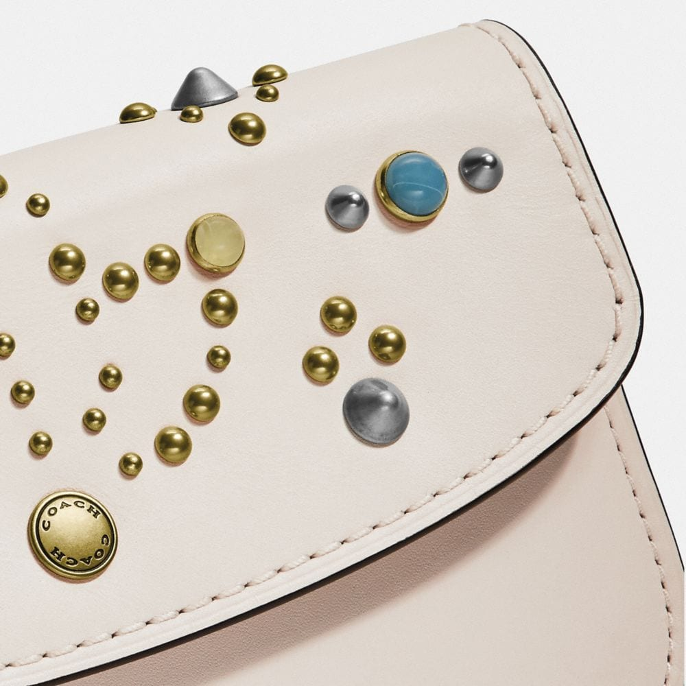 Coach Clutch With Rivets Alternate View 2