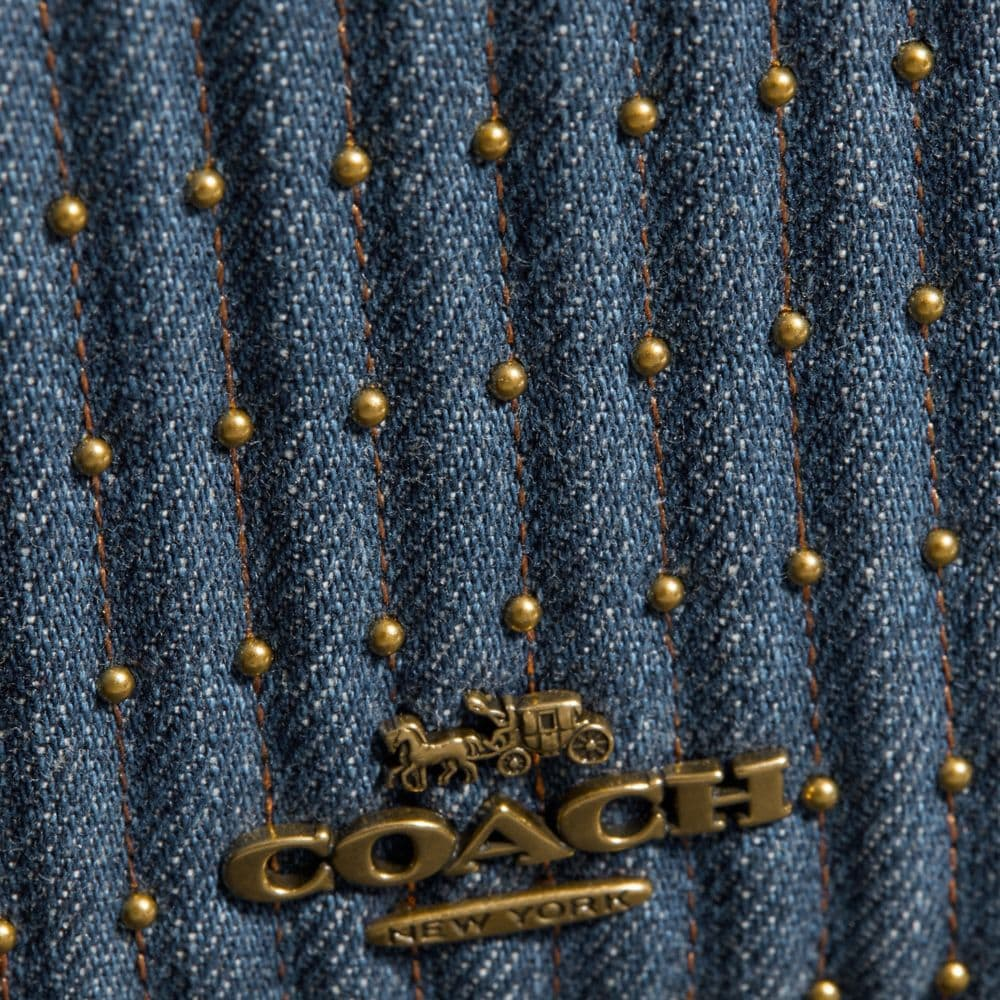 Coach Callie Foldover Chain Clutch With Quilting and Rivets Alternate View 4