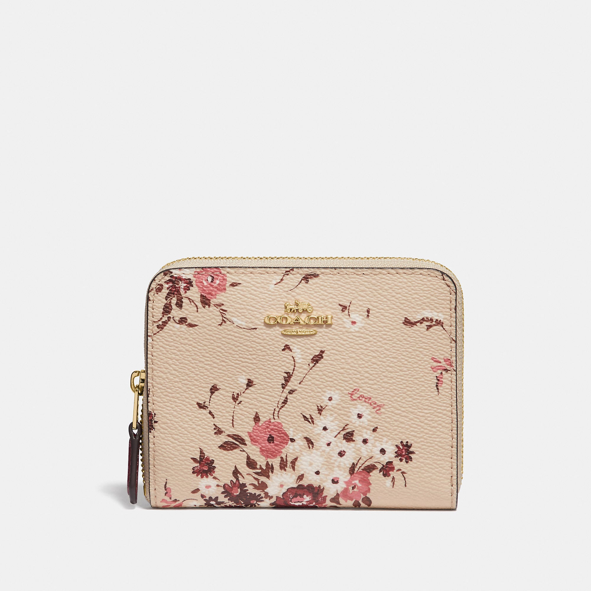 4652882351ac Coach Small Zip Around Wallet With Floral Bundle Print