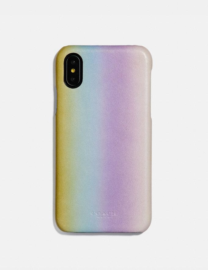 Coach iPhone X/Xs Case With Ombre Multicolor Women Accessories Tech & Travel