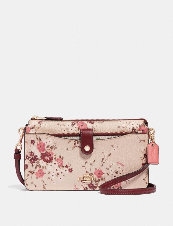 Coach Noa Pop-Up Messenger With Mixed Floral Print Multi/Gold Women Bags Crossbody Bags