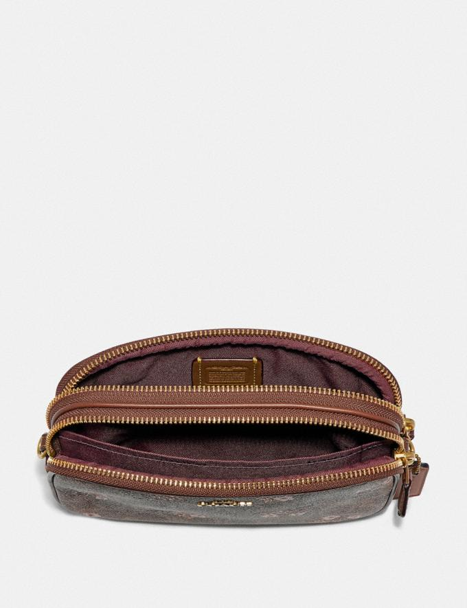 Coach Sadie Crossbody Clutch in Signature Canvas With Prairie Floral Print Tan/Brass New Featured Signature Styles Alternate View 2