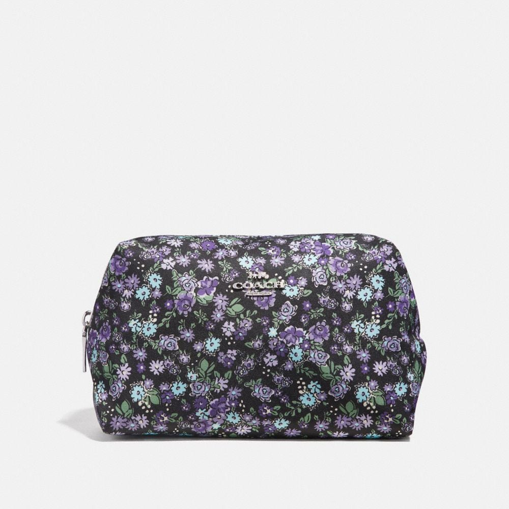 Coach LARGE BOXY COSMETIC CASE WITH POSEY CLUSTER PRINT