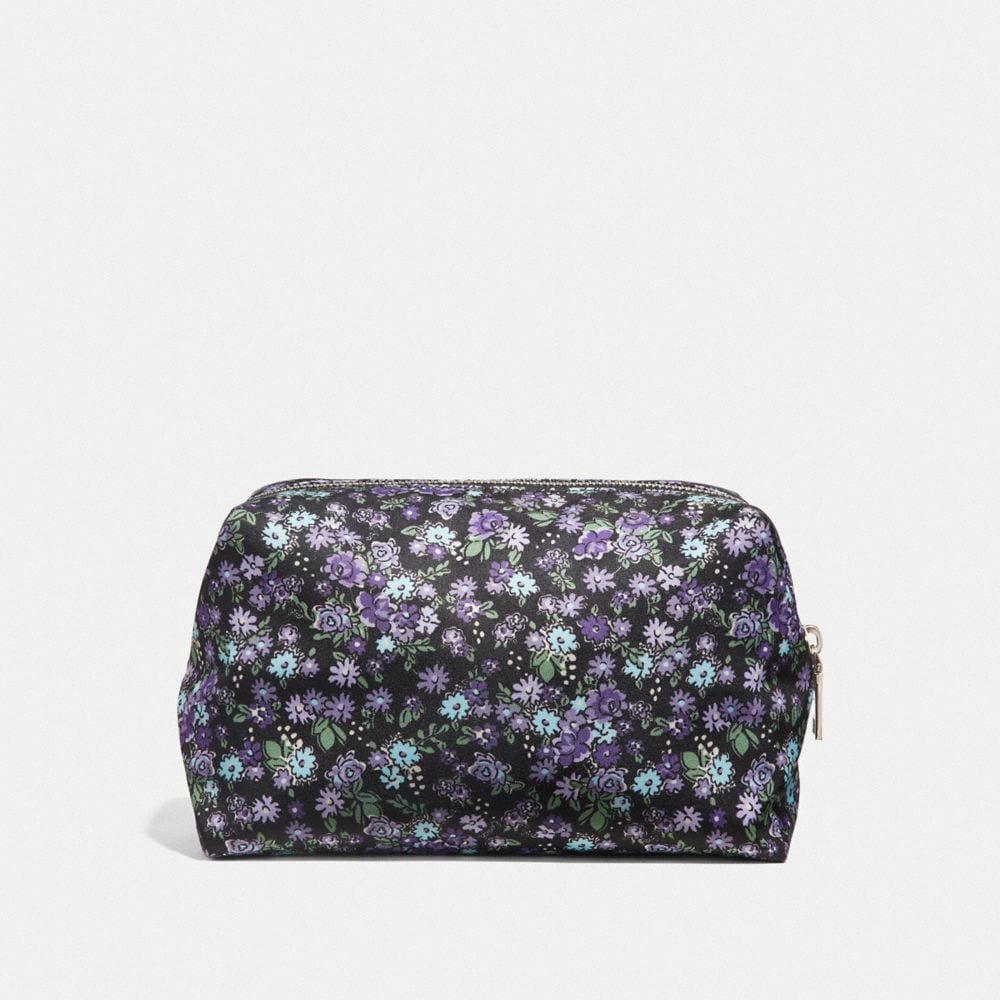 Coach LARGE BOXY COSMETIC CASE WITH POSEY CLUSTER PRINT Alternate View 1