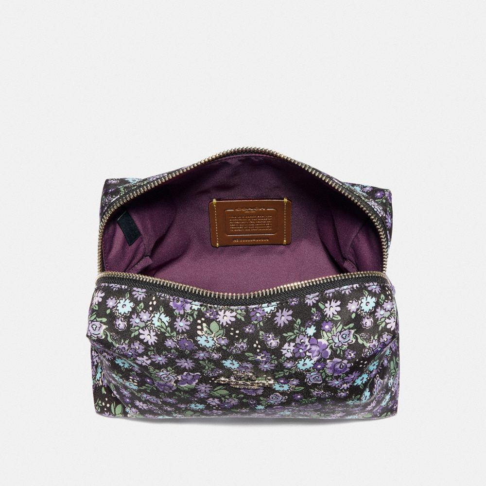Coach LARGE BOXY COSMETIC CASE WITH POSEY CLUSTER PRINT Alternate View 2